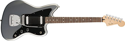 Fender Standard Jazzmaster Electric Guitar - HH - Pau Ferro Fingerboard, Ghost Silver Deluxe Active Precision Bass
