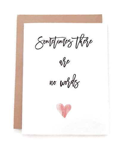 sometimes there are no words infant loss card miscarriage card personalized card custom made card Sympathy card terminal illness bereavement card