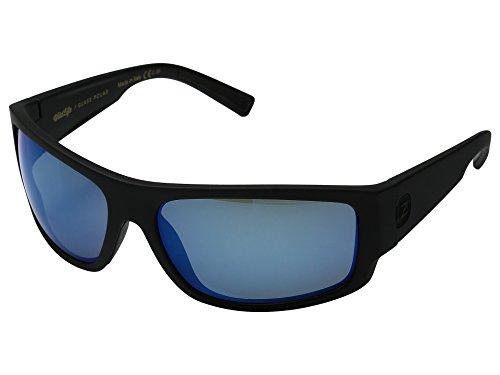 VonZipper Unisex Semi Polar Black Satin/Wild Glass Blue Chrome One Size