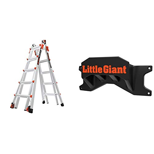 Little-Giant-Ladders-Velocity-with-Wheels-M22-22-Ft-Multi-Position-Ladder-Aluminum-Type-1A-300-lbs-Weight-Rating-15422-001-Giant-Ladder-Systems-15097-Ladder-Storage-Rack-BlackOrange