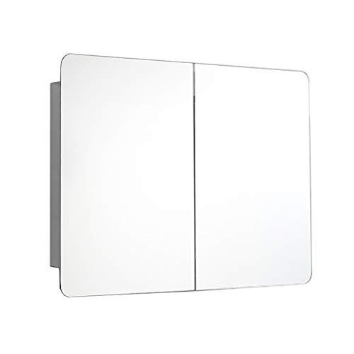 HSRG Wall Mounted Mirrored Bathroom Medicine Storage Cabinet with 2 Mirror Door, -