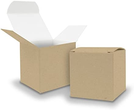 25 X itenga Cubo cartón kraft 6.5 x 6.5 cm exterior marrón ...