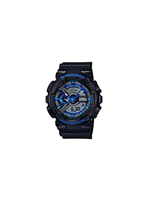 G-Shock GA-110 Blue Color Theme Stylish Watch - Black/Blue / One Size