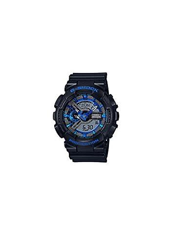 G-Shock GA-110 Blue Color Theme Stylish Watch - Black/Blue / One Size (Blue G Shock Men)