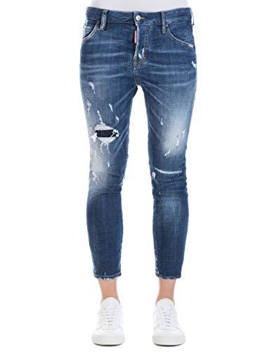 Jeans Bleu S75LB0035S30342470 Femme Coton Dsquared2 6SvawHqq