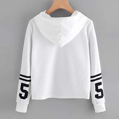 zahuihuiM Casual Coat, Hiver Femmes Tops Nouveau Sweat  Capuche  Manches Longues Hoodies De Mode Sweat Blanc