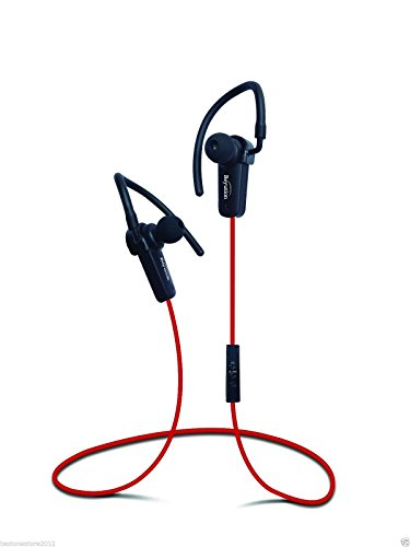 Bluetooth Earbud, Beyution, Wireless in-Ear Headphones with in-line Microphone (RED) & A2dp Technology Noise Cancellation, Stereo Bluetooth Earphones