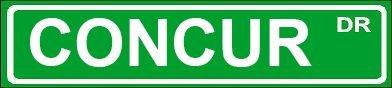 Novelty Concur 6  Wide Decal Of Street Sign Design