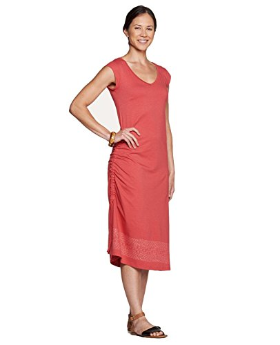 Toad&Co Muse Dress - Women's Rhubarb Border Print Large (Womens Muse)