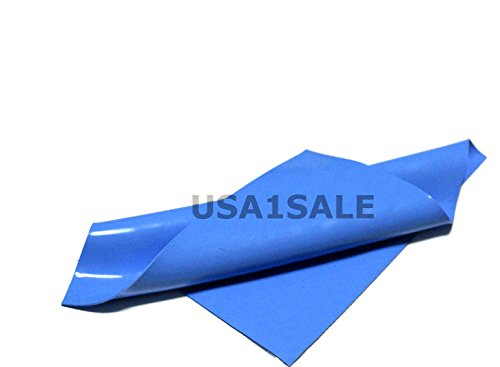 BEST 100mmx100mm 0.5mm CPU GPU IC Chip Heatsink Silicone Compound Blue Thermal Conductive Pad for Computer Tablet Play Station PS3 and Any Other Proper Electronic Products
