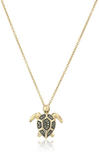 turtle-pendant-with-green-diamond-accent-in-yellow-plating-over-sterling-silver-pendant-necklace