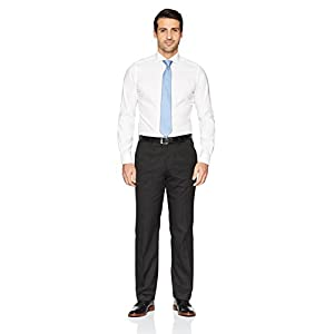 """Buttoned Down Men's Tailored Fit Cutaway-Collar Solid Non-Iron Dress Shirt (No Pocket), White, 18.5"""" Neck 34"""" Sleeve (Big and Tall)"""