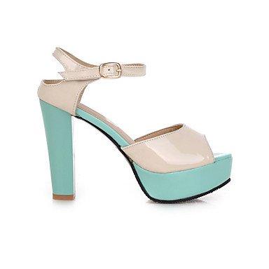 LvYuan Mujer Sandalias Zapatos formales Semicuero Primavera Verano Boda Vestido Fiesta y Noche Zapatos formales Cremallera Tacón RobustoRojo ruby