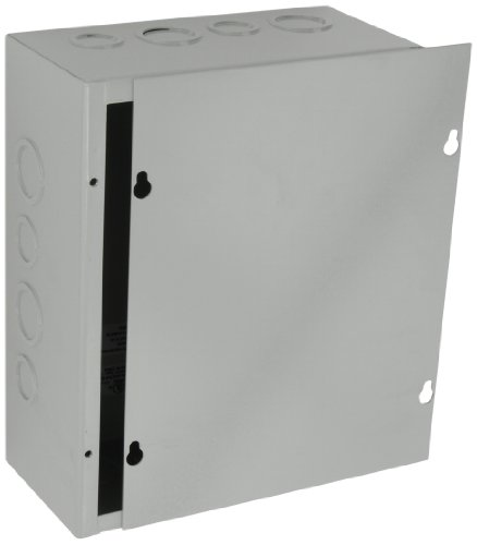 BUD Industries JB 3958 KO Steel NEMA 1 Sheet Metal Junction Box With  Knockout And Lift Off Screw Cover, 8
