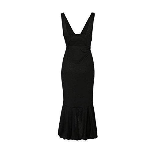 Huhu833 Abendkleid Damen Tiefes VAusschnitt Kleid Damen Sommer ...