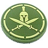 Spartan Verde Espada Cosplay Velcro PVC Parche