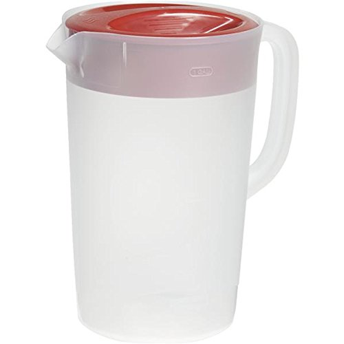 (Rubbermaid Commercial RCP1777155 Not Not Available Rubbermaid Clear Pitcher, 1 Gallon, Red)