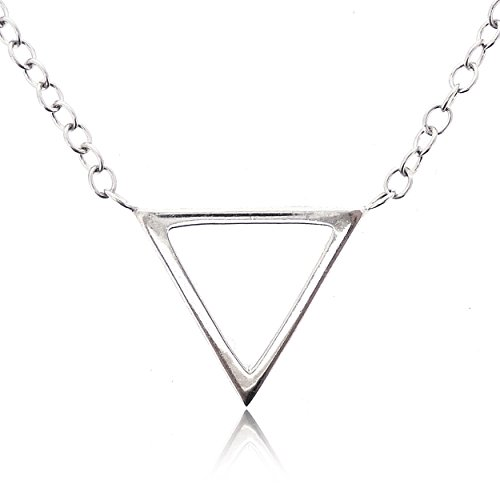 - SOVATS Triangle Necklace For Women 925 Sterling Silver Rhodium Plated - Simple, Stylish &Trendy Necklace for Your Loved Ones