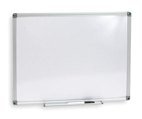 CAI Approved Gloss-Finish Melamine Dry Erase Board, Wall Mounted, 48