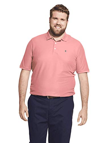 IZOD Men's Big and Tall Advantage Performance Flat Front Slim Fit Pant, Candy Pink, X-Large