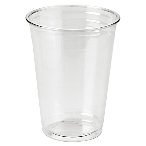 Dixie Food Clear Plastic Pete Cups, Cold, 10 Oz., Wisesize Packs, 500 Cups/Carton ()