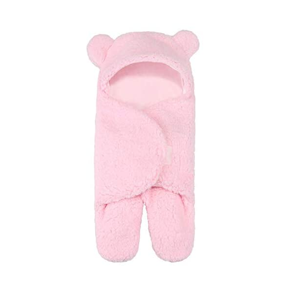 Caramel Macchiato Baby Swaddling Blanket Ultra-Soft Plush Newborn Receiving Swaddle Wrap Pink