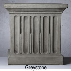 Campania International PD-167-GS Art Pedestal, Medium, Grey Stone Finish