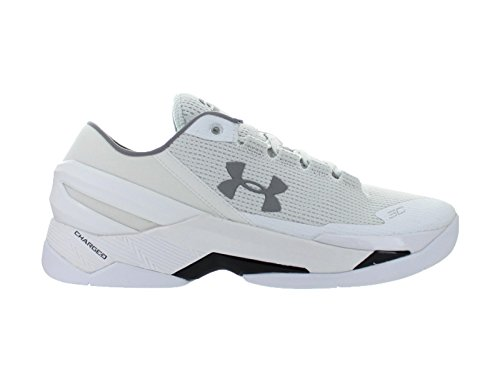 Mens Under Armour Curry 2 Low White Black Grey 1264001-103 US 13