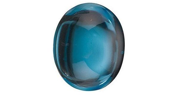 Blue Topaz Gemstone Cabochon-RARE Natural Blue Topaz Smooth Round Cabochon-Blue Topaz Gemstone Cabs-19.5x19.5x7 MM-Wholesalegems #W17249