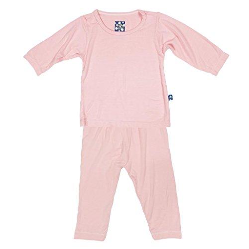 KicKee Pants Long Sleeve Winter Pajama Set Toddler Girls, Lotus, 4T