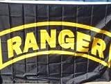 Army Rangers Black Traditional Flag