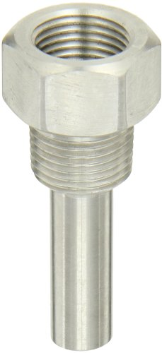 3//4 NPT Connection Winters TIW Series Brass Industrial 9IT Thermowell 3-1//2 Stem 2-1//2 Insertion Length 3-1//2 Stem 3//4 NPT Connection 2-1//2 Insertion Length TIW01