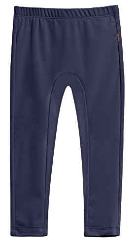 City Threads Girls' Swimming Suit Bottom Leggings Long Jammer Shorts For Pool or Beach With SPF50+ Sun Protection, Navy, - Shorts Swim Are Jammer What