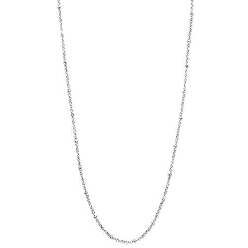 Chaine en Argent 925/000 Rhodié - Maille Largeur 2 mm - Longueur 40 cm