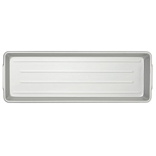 Rectangular Ribbed Aluminum Meat and Seafood Pan with Handles - 30''L x 10 1/2''W x 2''H by CLARTEC CORP