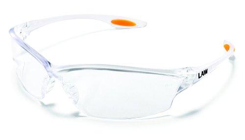 e7b6a3269ef MCR LW210 Crews Law 2 Safety Glasses Clear Frame Clear Lens 1 Pair