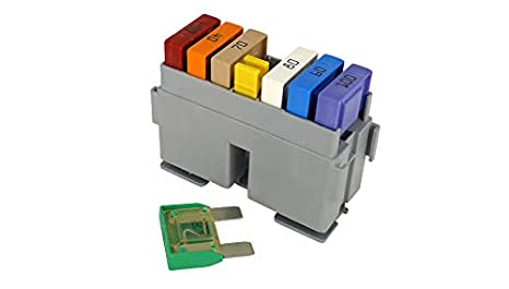 amazon com mta 6 way maxi fuses holder box modular automotive Maxi Fuse Identification