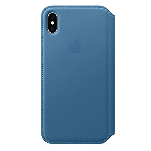 (Phone Case for iPhone 7 8 XS MAX Leather Case,Cape Cod Blue,for iPhone Xs MAX,with Retail Box)
