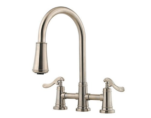 (Pfister GT531-YPK Ashfield Two Handle Pull-Down Kitchen Faucet, Brushed Nickel )