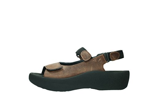 geöltes Sandals Wolky 543 3204 cognac Leather marrón Jewel Leder Womens qIx4w8Ip