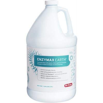 Hu-Friedy IMS-1336 Enzymax Earth Concentrated Ultrasonic Detergent and Presoak, 1 gal Bottle by HU FRIEDY