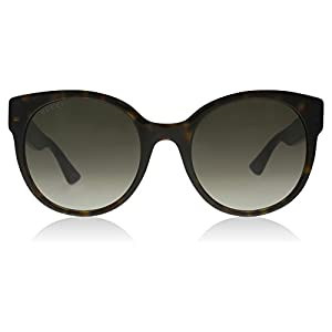 Gucci 0035S 004 Havana 0035S Round Sunglasses Lens Category 3 Size 54mm