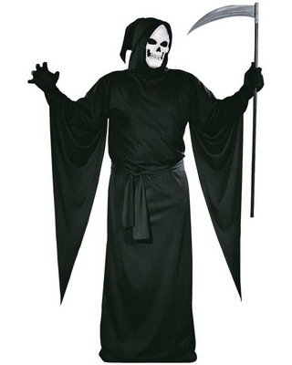 FunWorld Grim Reaper Robe Costume Fun World Grim Reaper Robe Black One Size Costume 9937