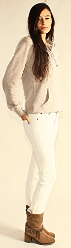 Jeans Women Cigarette Fit White