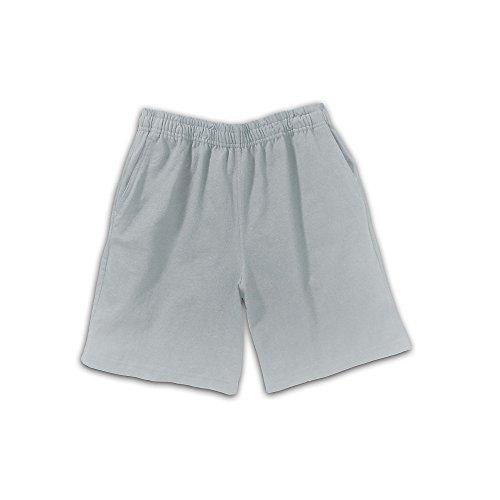 Hanes Boys' Jersey Shorts, Light Steel, Large (Boys Jersey Short)