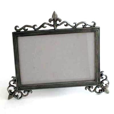 - Brushed Nickel 5x7 Fleur de Lis Picture Frame - Set of 2