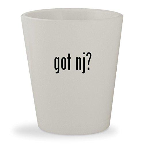 got nj? - White Ceramic 1.5oz Shot - Glass Flemington