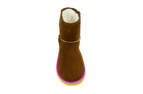 Chulis Kvinners Faux Fur Kaldt Vær Klassiske Korte Støvler (gg-12) Brun