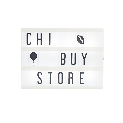 Chibuy Gift A5 Size Cinema Lightbox with 85pcs Letters and Numbers,USB Cable 15 x 20 cm Cinema Light Box