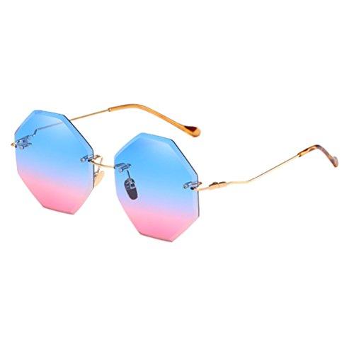 Zhuhaitf Mince Soleil Voyage Prévenir Ton Lunettes Blue Fête de violet Pente Léger Lunettes amp;pink Lentille Sunglasses Ladies Ancien Coloré Ultra des et rrSxqdZp